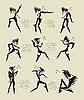 Exotische Tänze | Stock Vektrografik