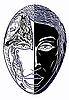 검은 색과 흰색 마스크 | Stock Vector Graphics