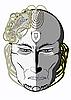 Vektor Cliparts: nachdenkliche Maske
