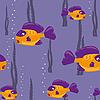 nahtloser Hintergrund mit gelbern Fischen