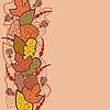 Jesienią tła z liści i jagód | Stock Vector Graphics