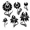 꽃 무늬 디자인 요소 | Stock Vector Graphics