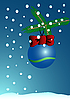 blaue Weihnachtskarte