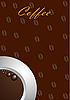 Kawa tła z białego kubka | Stock Vector Graphics