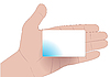 手用空白卡 | 向量插图