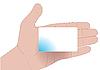 Hand mit leerer Karte