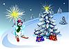 圣诞贺卡 | 向量插图