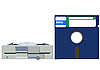 ID 3070588 | Old Floppy drive and Floppy disc | Klipart wektorowy | KLIPARTO