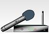 Векторный клипарт: Беспроводной микрофон с приемником