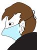 Mann in der medizinischen Maske