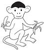 Affe mit Bananen