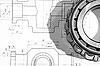 ID 3061616 | Mechaniczne rysunek i łożysko | Foto stockowe wysokiej rozdzielczości | KLIPARTO