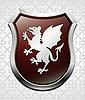 Wappen mit Drachen
