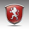 Wappen mit Löwe