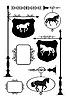 Aushängeschilde mit Pferden | Stock Vektrografik