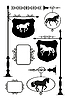 Signage żelazko z końmi | Stock Vector Graphics