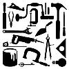 Silhouetten von Werkzeugen