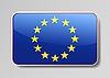 Flagge der Europäischen Union als Web-Taste