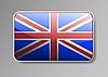 Flagge von Großbritannien als Web-Taste
