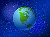 Erdkugel mit Nordamerika | Stock Vektrografik
