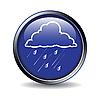 Icon mit dem Wetter-Zeichen - Regen