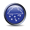 Icon mit dem Wetter-Zeichen - Schnee