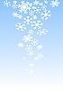 Winter-Hintergrund mit Schneeflocken