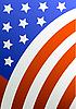 Fragment der Flagge von Amerika