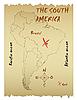 Landkarte von Südamerika