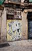ID 3039873 | Brama z konia graffiti w Barcelonie | Foto stockowe wysokiej rozdzielczości | KLIPARTO