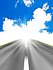 하늘에 아스팔트 도로 | Stock Foto
