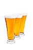 Reihe von Bier-Pints | Stock Foto