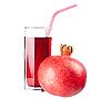 Glas Saft und reifer Granatapfel | Stock Foto