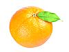 Reife Orange mit einem Blatt | Stock Foto