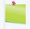 leeres grünes Notizblatt