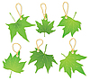 Blätter wie Etikette