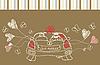 ID 3050873 | Grußkarte mit Hochzeitsauto | Stock Vektorgrafik | CLIPARTO