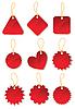 ID 3051120 | Set von roten Etiketten | Stock Vektorgrafik | CLIPARTO