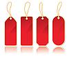 Set von roten Etiketten