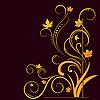 ID 3072613 | Kwiatowe elementy na jesieni motywu | Klipart wektorowy | KLIPARTO
