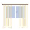 Vorhänge stilisiert mit Strichcode-Streifen