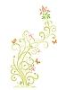 florales Design mit Schmetterlingen