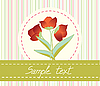 Blumengrusskarte