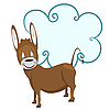 Векторный клипарт: ослик с рамкой