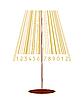 Lampe stilisiert als Barkode