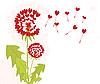 蒲公英与爱的种子 | 向量插图