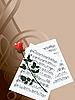 Musik-Noten und rote Rose