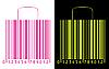 Einkaufstüten stilisiert als Barcode