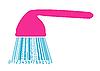 Dusche stilisiert als Barcode