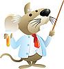 учитель химии в виде мыши